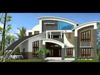Desain Rumah Mewa dengan Atap Melengkung memberi kesan kemewahan yang alami
