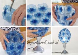 Bunga Plastik yang indah dari bahan bekas minuman