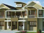 Desain Rumah Mewa dengan Atap Melengkung memberi kesan kemewahan yang alami namun tetap mempertahankan bentuk klasik