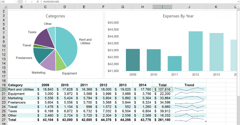 Tampilan Microsoft Excel 2016