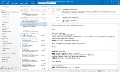 Tampilan Microsoft Outlook 2016