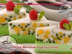 Resep Membuat Puding Cendol atau Cake Cendol