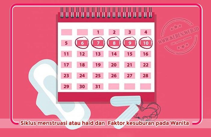 Siklus menstruasi atau haid dan faktor kesuburan pada Wanita